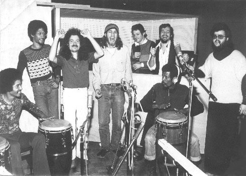 Head, Heart and Hands - standing: Roy Louis, Guillhermo Marchena, Larry Porter, Randy Langione, Bobby Stern, Dave King, seated: Elmer Louis, Raoul Burnet - Munich
